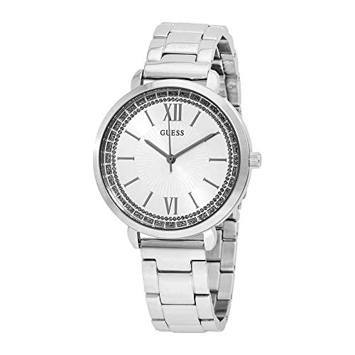 Guess Ladies posh Womens Analog Quartz Watch with Stainless Steel Bracelet W1231L1 (Ladies Watches Guess)
