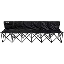 Franklin Sports Sideline Team Bench - 6 Person - Collapsible Sports Bench - Easy Assembly - Pop up