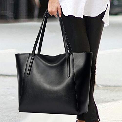Shopping Capienza A Notag Da Rosso Spalla Donna Pelle bianca In Tracolla Grande Borsa Per Borse Tote xqf5IqOwr