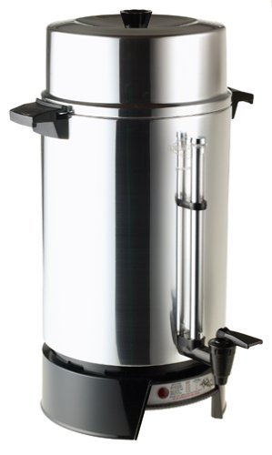 West Bend Commercial Coffee Maker (West Bend 100-Cup Commercial Coffee Urn Features Coffee-Level Gauge; with