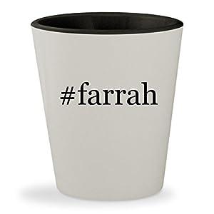 #farrah - Hashtag White Outer & Black Inner Ceramic 1.5oz Shot Glass