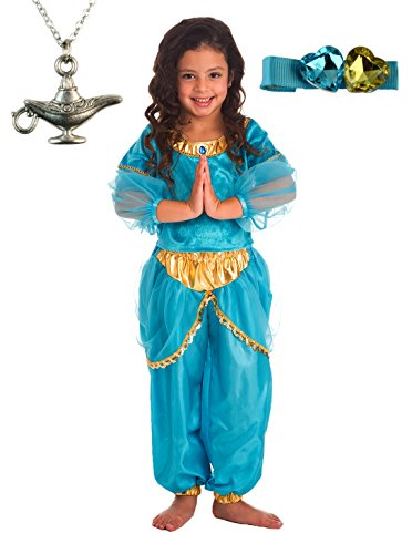 Arabian Princess Dress-up with Wondercharms Necklace - X-LARGE (7-9)