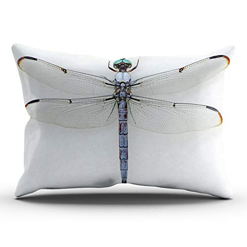 (WULIHUA Pillow Covers Beautiful Dragonfly Sofa Modern Pillow Case Decorative Throw Pillow Cases One Side Printed King 20X36 Inches)