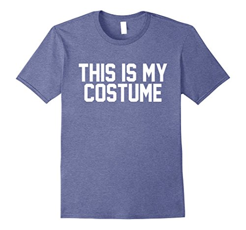 Skanky Mens Costumes (Mens This Is My Costume Halloween Shirt 2XL Heather Blue)