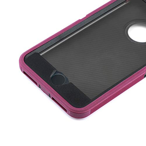 Co-Goldguard Case for iPhone 7/8, [Heavy Duty] 3 in 1 Built-in Screen Protector Cover Dust-Proof Shockproof Drop-Proof Scratch-Resistant Shell for Apple iPhone 7 4.7 inch,Purple&Black