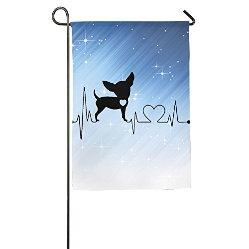cjdngh Dog Heartbeat Chihuahua Home Flag Garden Flag Demonstrations Flag Family Party Flag Match Flag