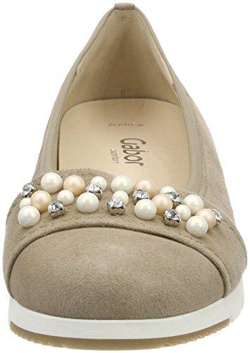 Gabor Ladies Comfort Sport Chiuso Ballerine Beige (sahara)