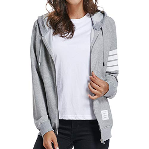 Oubaybay Loose Fit and Lightweight Hoodies Cotton Active Jacket for Women