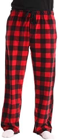 followme Microfleece Plaid Pajama Pockets