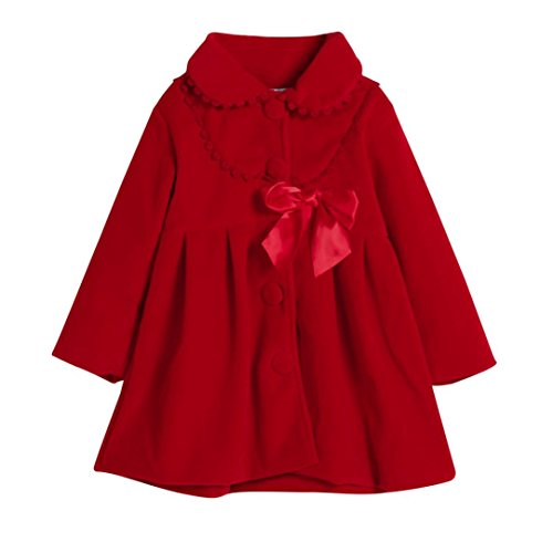 Hot Sale!!Woaills 2-6 Years Old Toddler Kids Baby Girls Thick Warm Clothes,Autumn Winter Cloak Jacket Overcoat (Red, 2T) ()
