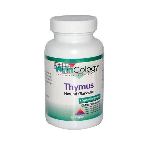 Nutricology Thymus 500 Mg - 75 Caps, 6 pack by NUTRICOLOGY