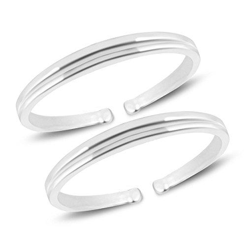 a7dd3b6e1 MJ 925 Simple Yet Elegant Toe Rings (Leg Finger Rings) in 92.5 Sterling  Silver