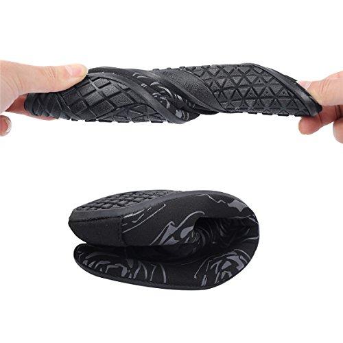 Gris Joinfree Hombres Flor Deportes Navegar Descalzo Calcetines Para Nadar Aqua Acuáticos Calzado Piscina Secado Playa Mujer De Rápido RffwWnqTrH