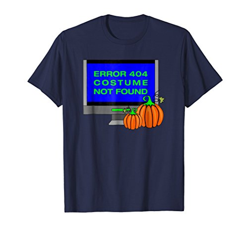 Error 404 Costume Not Found T-Shirt Funny Halloween Tee