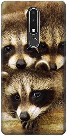 JP0977N3P アライグマの赤ちゃん Baby Raccoons Nokia 3.1 plus ケース