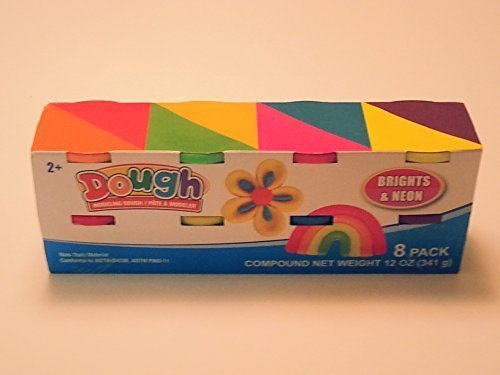 Primary and Neon colors by Greenbrier Greenbrier International Inc Modeling Dough 8 ct