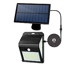【最新版分離型】ソーラーライト 屋外 人感センサーライト 170LED...