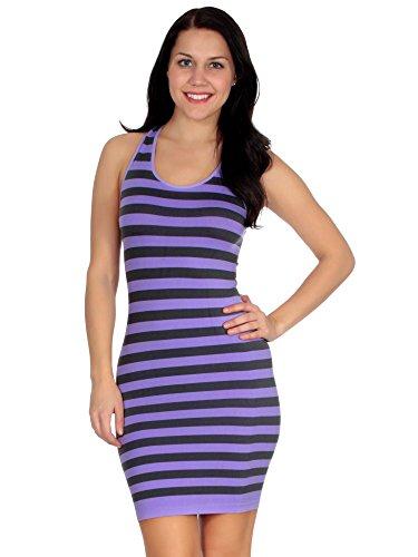 Simplicity Womens Striped Seamless Stretch