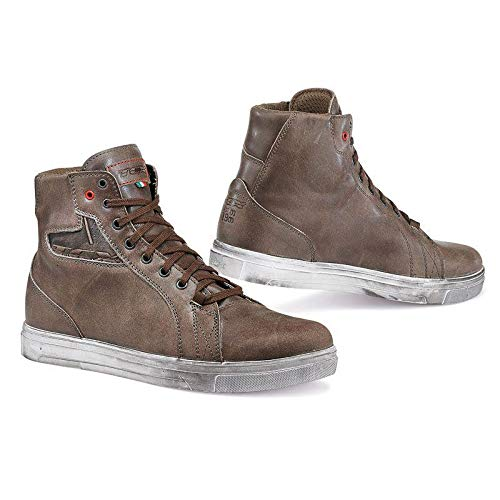 TCX Boots Men's Street Ace Waterproof Boots (W/P Coffee Brown, Size 45/Size 11)
