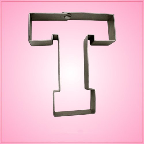 Varsity Letter T Cookie Cutter 4.25 Inch (Metal) aluminum ()