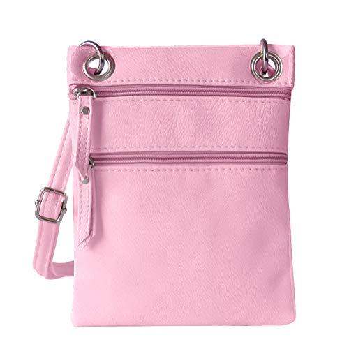 Women Donalworld Pocket Purse zip Small for Bag Crossbody Double Pk Shoulder rqzwrU