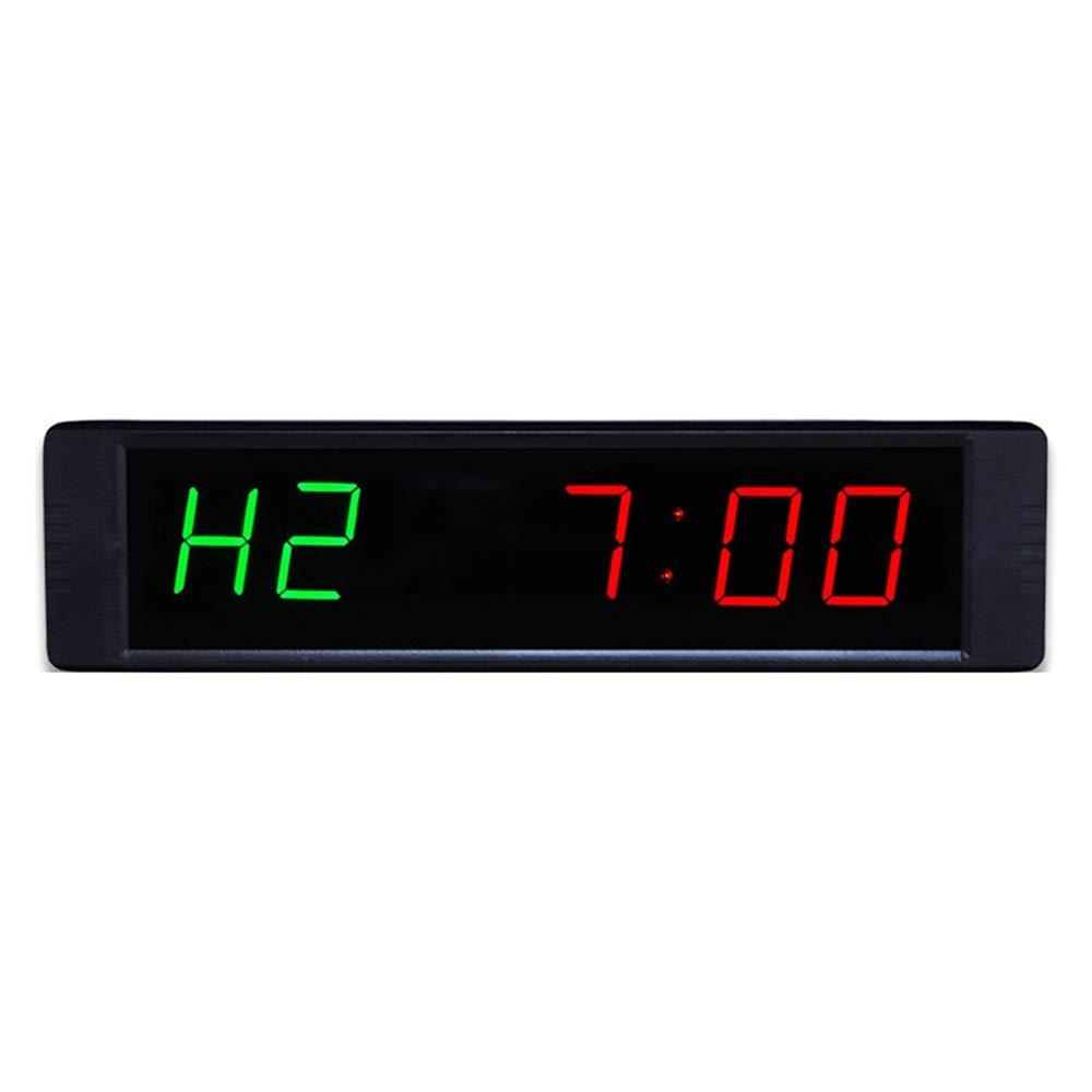 スポーツタイマー デ カウントダウンクロック 巨大で目に見えるカウントダウンクロックプログラマブルデジタルインターバルタイマー壁掛けカウントダウンクロックフィットネスとリモートコントロールのための多機能ストップウォッチウォールクロック 大型デジタルカウントダウン時計 (色 : ブラック, サイズ : 21.5X2X5.5CM) ブラック 21.5X2X5.5CM