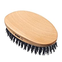 Luxury Kent Beard Brush Comb - Firm Real Boar Hair - Essential for Beard Oil by Kent