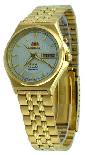 Orient #BEM5M00VC Men's Gold Tone Tri Star Champagne Dial Automatic Watch