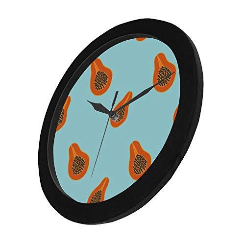 WYYWCY Moderno Simple Naranja Crema Y Negro Papaya Reloj de ...