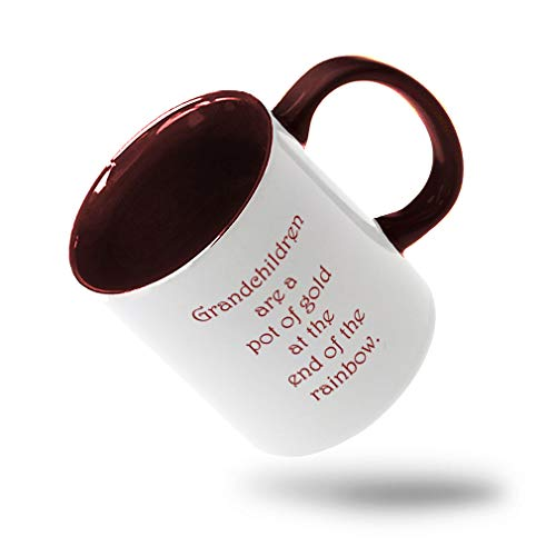 Style In Print Maroon Grandchildren are A Pot of Gold at The End of The Rainbow Ceramic Cup Colored Mug - Maroon