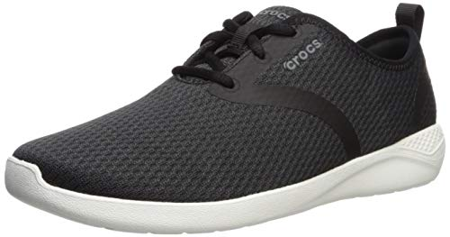 Crocs Men's Literidemlcm Sneaker, Black/White, 7 M US ()