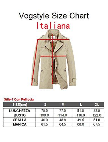 Lunga Giacca Con Signori Manica Vogstyle Cappotto Ragazzi Stile Uomo Trench Nero 1 Pelliccia A nCwAqx8H