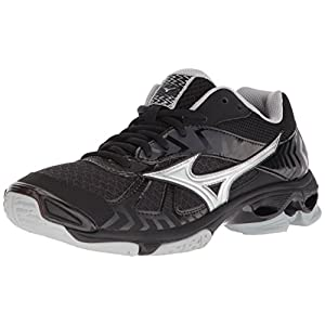 Mizuno Wave Bolt 7 Womens Black-Silver 7 Black/Silver
