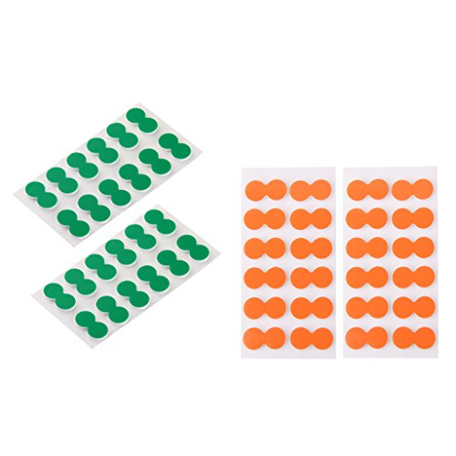 MagiDeal 48 Pieces Green + Orange Self-adhesive Foam Fly Fishing Stick on Strike Indicator Fishing Accessory