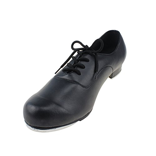 MSMAX Men Lace up Flex Tap Latin Dance Shoes Size 7