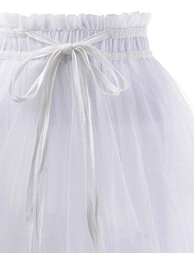 Motifs ajust Moderne Nknkwlsk746 Femme white NEARKIN Jupe pfAzxwqnZ