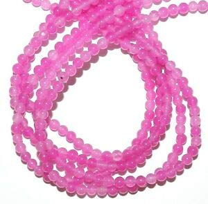 GR222 Pink Fuchsia Candy Jade 4mm Round Quartz Gemstone Beads 16