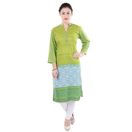 Chichi Women 3/4 Sleeve Tunic Embroidery Top Kurti Blouse (Yellow)(Women's Day Special),Medium,Fire-yellow by CHI