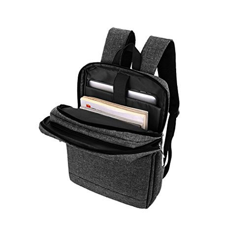 Vbiger Laptop Rucksack Große Kapazität Business Schultern Tasche Beiläufig Oxford Rucksäcke Stilvolle Tagesrucksack Passt 15.6  Laptop Schwarz