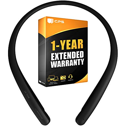LG HBS-SL5.ACUSBKI Tone Style HBS-SL5 Bluetooth Wireless Stereo Headset Black Bundle with 1 Year Extended Warranty
