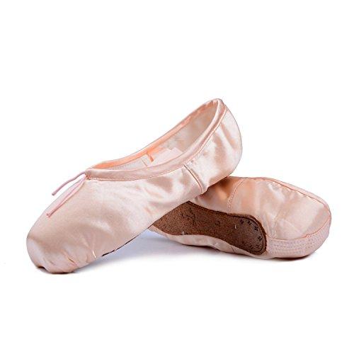 Spitzenschuhe Ballet für Mädchen/Damen in Rosa mit spitzenschuhe schooner und spitzenschuh (Bitte wählen Sie eine Größe mehr als üblich)