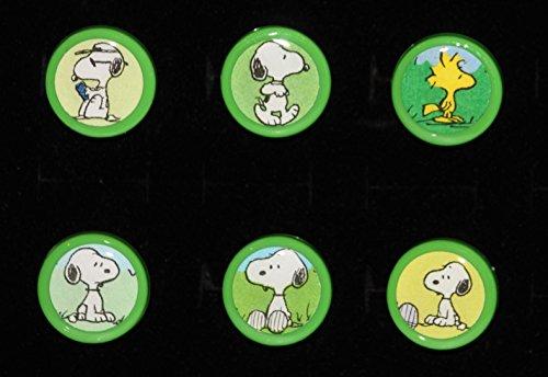 Peanuts Snoopy & Woodstock Vintage Book Dresser Drawer Pull Knob Set Beagle Schultz