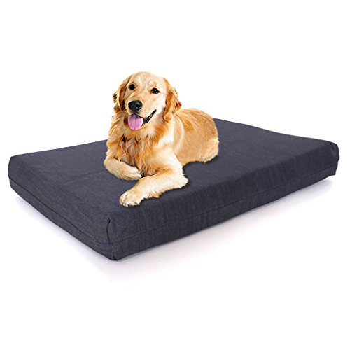"X-Large Ultimate Luxury 7"" Gel Memory Foam Orthopedic Dog Bed