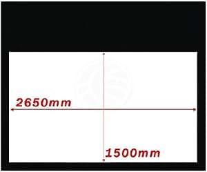 Cablematic - Pantalla de proyección fija pared de 2650x1500mm 16:9 DisplayMATIC