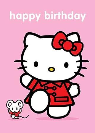 hello kitty happy birthday greetings card amazon co uk toys games