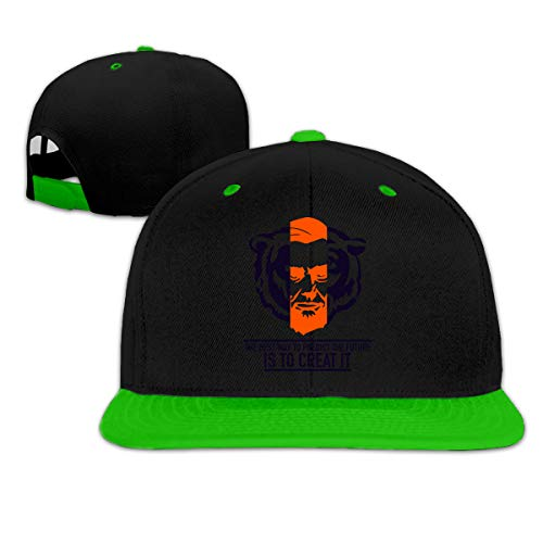 LUZHOU C Bears Lincoln Quotes Predict Future Creat Future Hip Hop Baseball Cap Adjustable Unisex Green -