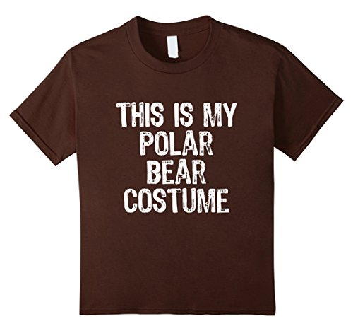 Kids This Is My Polar Bear Costume Halloween T-Shirt 4 Brown - Polar Bear Costume Diy