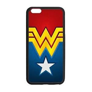 Custom Wonder Woman Phone Case Cover Protection For iphone 6 plus , TPU, 5.5 inch, Black / White WANGJING JINDA