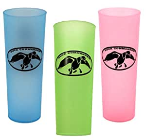 Set of 3 Duck Commander Tea Cups Green Pink and Blue Drinkware
