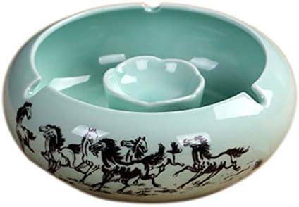 灰皿 , ヨーロッパの灰皿のセラミック創造的な人のファッション灰皿(サイズ:14.5 * 6 cm) (色 : B, サイズ : 14.5*6.0CM)